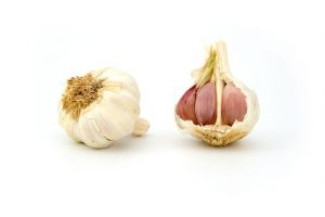 two whole garlics