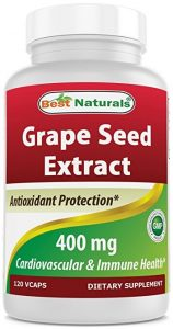 Bottle of Best Naturals grape seed extract 400mg